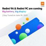 Redmi 9A、Redmi 9Cも6月30日に登場する模様