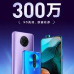 Redmi K30シリーズの中国国内での販売台数が300万台を突破
